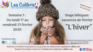 Stages bilingues 1ère semaine des vacances de février