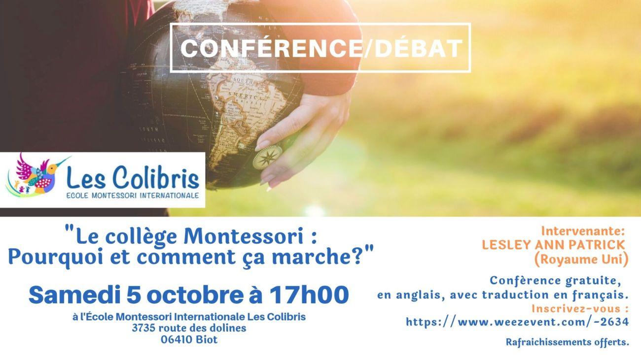 Conférence collège Montessori