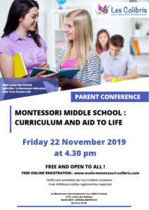 mONTESSORI MIDDLE SCHOOL : CURRICULUM AND AID TO LIFE