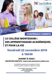 Collège Montessori : desapprentissages académiques, et pour la vie