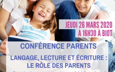 Langage, lecture et écriture : le rôle des parents