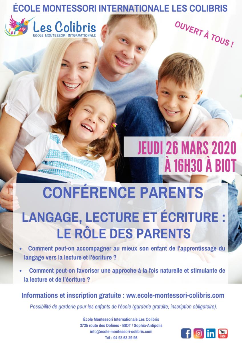 Conférence parents langage