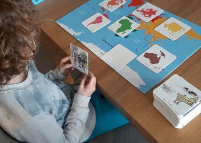 Géopgraphie Montessori à la maison