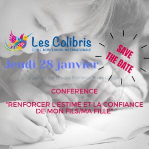 Conférence - Renforcer l'estime et la confiance de mon fils / ma fille -  Strengthen the esteem and confidence of my son / daughter
